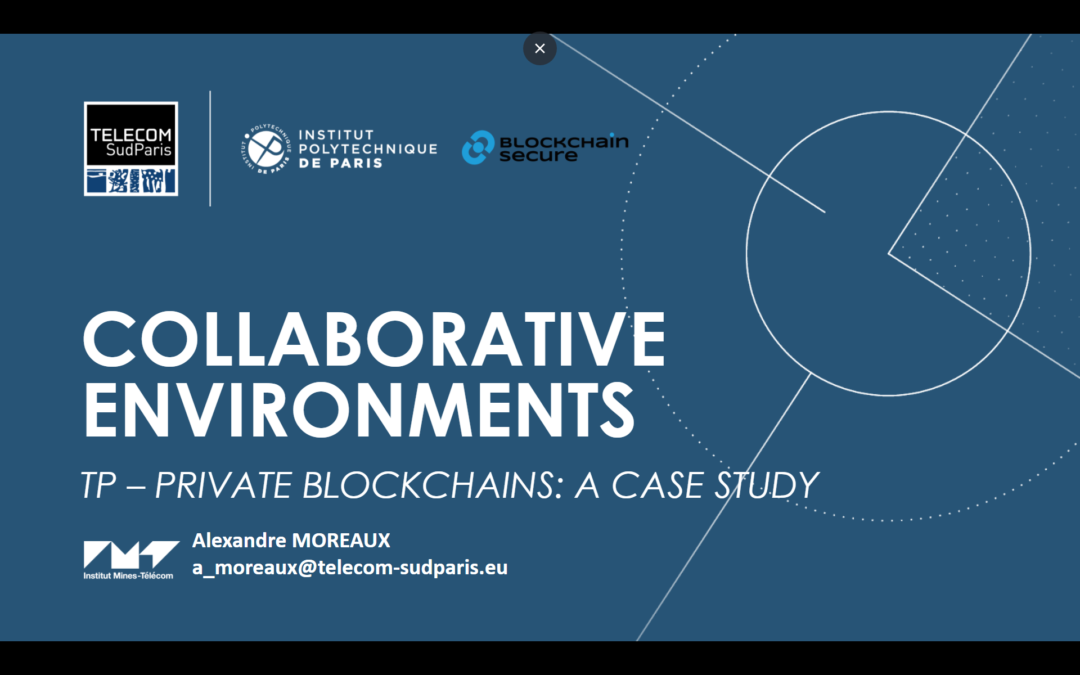 L'architecture des blockchains privées : Introduction aux environnements collaboratifs